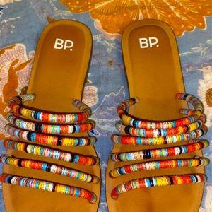 BP. Women's Multicolored Strap Sandals size 6
